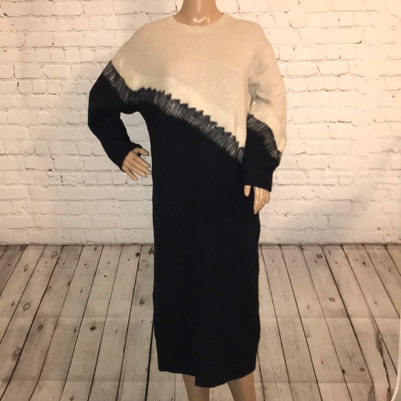 ASOS long sleeve midi dress Wool 8 diagonal